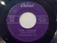 The Kingston Trio Tom Dooley / Ruby Red 45 Capitol Vinyl Record