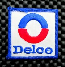 """DELCO EMBROIDERED SEW ON PATCH SPARK PLUG BATTERY CAR TRUCK LOGO 2"""" x 2"""""""
