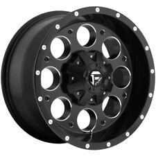 "Fuel D525 Revolver 15x8 5x4.75""/5x5"" -18mm Black/Milled Wheel Rim 15"" Inch"