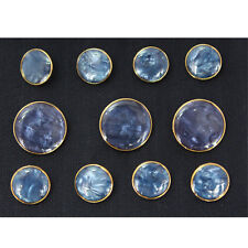 Blue Metal Blazer Buttons Set For Suit Sport Coat