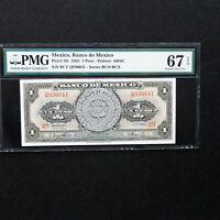 1965 Mexico 1 Peso, Pick # 59i, PMG 67 EPQ Superb Gem Unc.