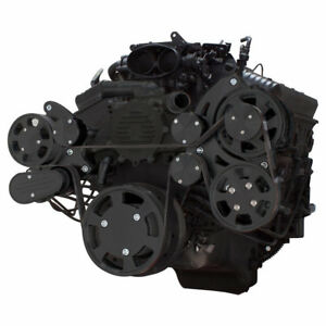 Black Serpentine System for LT1 Generation II - Power Steering & Alternator
