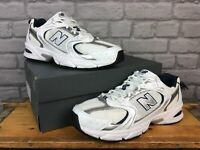 NEW BALANCE MENS UK 11.5 EU 46.5 530 WHITE NAVY BLUE SILVER TRAINERS RRP £80 AD