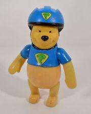 """Winnie the Pooh Bear w/ Bicycle or Skateboard Helmet 5"""" Action Figure Disney"""