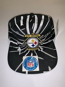 Pittsburgh Steelers Champ Starter Lightning Vintage Snapback Hat Cap 1996 NWT