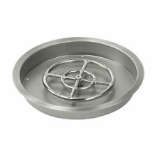 """19"""" Stainless Steel Round Drop-In Fire Pit Pan & Burner by American Fireglass"""