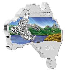 2015 $1 Australian Map Shaped Wedge-Tailed Eagle 1oz Silver Proof Coin No: 52
