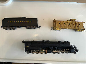 AHM2-8-8-2USRA Mallet Y6B Pennslyvania2197 HO scale+GOLD CABOOSE+TENDER ALL MINT