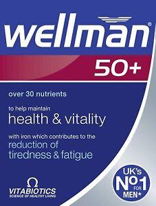 Vitabiotics Wellman 50+ Plus Advanced Vitamin and Mineral Supplement 30 Tablets