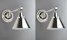 2 x MODERN contemporary NICKEL WALL Lights Adjustable Knuckle Joints