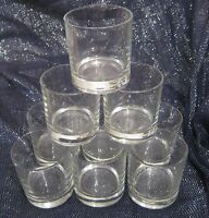 9x wonderful glass whisky tumblers in the classic design approx 3 ins tall