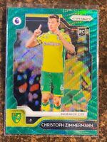 2019-20 Panini Prizm Premier League CHRISTOPH ZIMMERMAN RC Green Wave Refractor