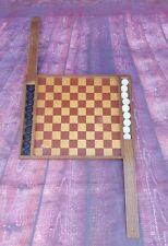Vintage Wooden Chess Board With Pieces Game Toy