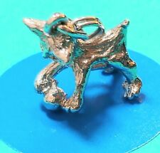 Sterling Silver Vintage Bracelet Charm C22 Cat With Ball