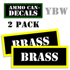 BRASS Ammo Label Decals Box Stickers decals - 2 Pack BLYW