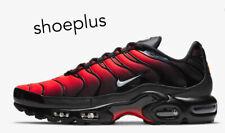 """Nike Air Max Plus Tn """"Negro/carmesí/gris lobo"""" Brillante Para Hombres Zapatillas Todas Las Tallas"""