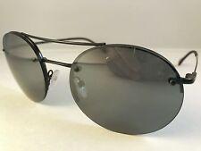 New Authentic PRADA Sport sunglasses SPS 54R 7AX 5L0 black mirror w case