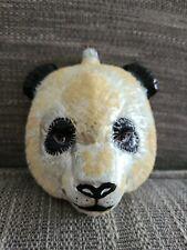 "Slavic Treasures Vintage ""Large Panda Head"" Hand Painted Glass Ornament"