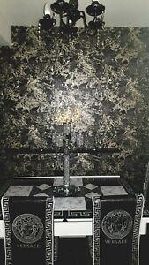 Liquid Marble Wallpaper black /gold