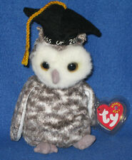 TY SMART the OWL BEANIE BABY - MINT with MINT TAGS