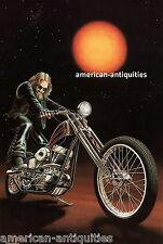 Dave David Mann Biker Art Motorcycle Poster Print Easyriders Kick Start