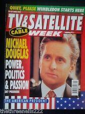 TV & SATELLITE WEEK - MICHAEL DOUGLAS - 21 JUNE 1997
