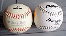 """12"""" Softball Lot Of (2) Dudley Thunder Sw and Worth Gray Dot"""