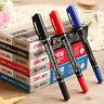 12 pcs Dual Side Marker Pen Deli Permanent Dry Fast Waterproof Broad Fine Point