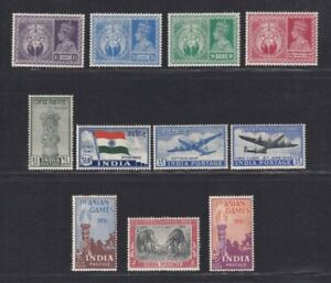 India stamp 1946-1951 5 mint sets, inc 1946 Vicory, 1947 Independence, AIr Mail