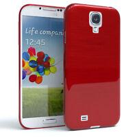 Schutz Hülle für Samsung Galaxy S4 Brushed Cover Handy Case Rot