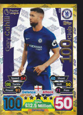 Match Attax 17/18 Card No.438 Gary Cahill CHELSEA 100 CLUB Hundred