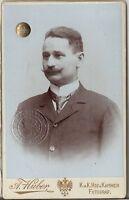 CDV photo Herrenportrait mit Siegel / Hofrat Karl Kolbe - Wien 1900er