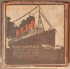 More details for wwi may 1915 british copy of iron rms lusitania sinking medal in box of issue