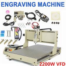 USB 2.2KW 4 Achse 6090 CNC Router Graveur Fräsmaschine Graviermaschine & Handrad