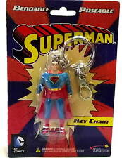 SUPERMAN BENDABLE KEY CHAIN - DC Comics Figure Keyring  NJCroce