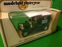 MATCHBOX MODELS OF YESTERYEAR FORD MODEL T VAN CAPTAIN MORGAN  Y-12 1978