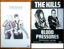 THE KILLS Ash & Ice | Blood Pressures Ltd Ed 2 RARE Posters Lot +FREE 3rd Poster