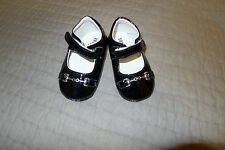Trumfit moccasin baby girl shoes, black, patent leather, sz 12-18 months