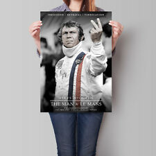 Steve McQueen: The Man & Le Mans Movie Poster 2015 Film 16.6 x 23.4 in (A2)