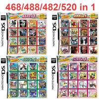 For DS NDS 2DS 3DS NDSI NDSL 468/488/520/208/482 in 1 Video Games Cartridge Card