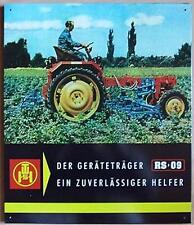 Älteres Blechschild Traktor DDR Geraetetraeger Schlepper gebraucht used