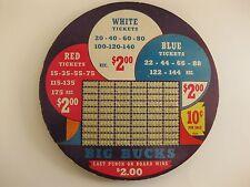 Vintage Big Bucks 10 Cent Punchboard Round Unpunched Trade Stimulator w/ key