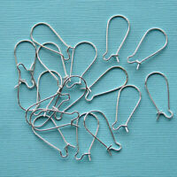 100 Silver Plated Earring Wires Kidney Style Hooks Good for 50 Pairs - Z052