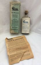 Antique Medicine Bottle Original Box RHEUMA Diuretic Demulcent Laxative Buffalo
