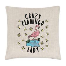 PAZZO FENICOTTERO Lady STELLE LINO copricuscino cuscino - divertente animale
