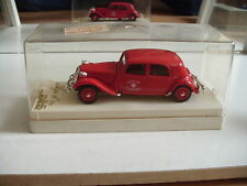 Solido Citroen 15 CV Sapeurs Pompiers in Red on 1:43 in Box