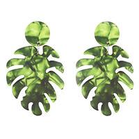 Fashion Earrings Vintage Women Dangle Acrylic Ear Stud Leaves Earring Jewelry
