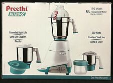 Preethi Nitro 3-Jar Mixer Grinder, 550-Watt Stainless Steel MG155