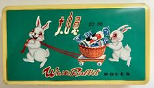 VINTAGE 'WHITE RABBIT ROLLS' CANDY TIN - EASTER DECOR