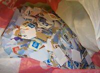 Über 1 Kilo 1KG Britische GB Englisch Briefmarken Kiloware Sammlung Last Arbeit